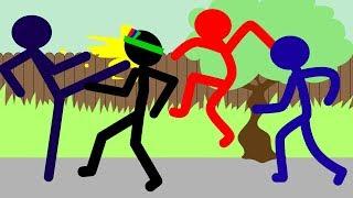 СТИКМЕН врывается в ДОМА, Ломает ПРЕДМЕТЫ и Всех ИЗБИВАЕТ! Мультик Игра Anger of Stick