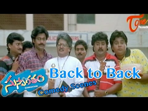 Suswagatham  Movie Comedy Scenes || Back to Back ||   Pawan Kalyan || Devayani