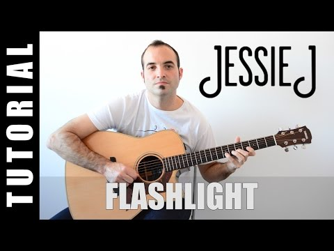 How to play Jessie J - Flashlight / Pitch Perfect 2 EASY Tutorial CHORDS and LYRICS, TABS