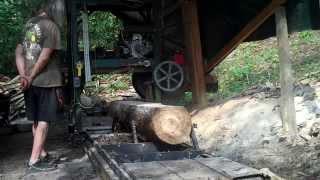 Cutting A Board With My Diy Bandsaw Mill