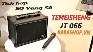 Loa kéo karaoke mini cao cấp tích hợp vang số - Loa nhỏ mà hay Temeisheng JT 066