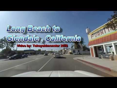 Xiaomi Yi Camera Dashcam Long Beach to Glendale, California