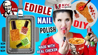 DIY EDIBLE KFC Nail Polish | EAT Fried Chicken Flavored Nail Polish | Made With Real Fried Chicken!