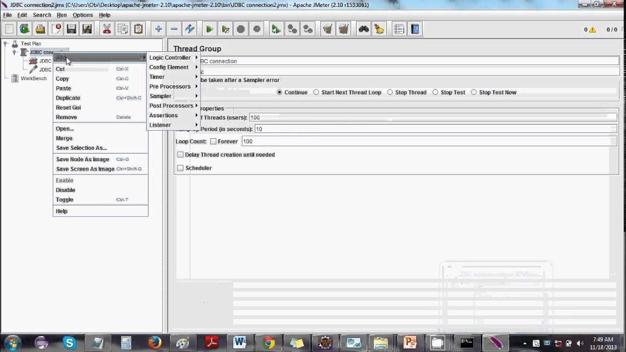 Jmeter JDBC Tutorial - YouTube