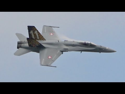 McDonnell Douglas F-18C Hornet Swiss Air Force Flying Display At RAF Fairford RIAT 2019 AirShow