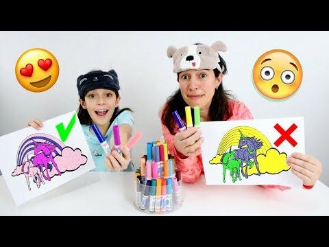 DESAFIO COLORINDO COM 3 CORES ★ Pintando Figuras Encantadas com a Mamãe (3 MARKER CHALLENGE)