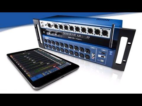 Mesa de Som Digital 24 Canais Soundcraft UI24R - Krunner