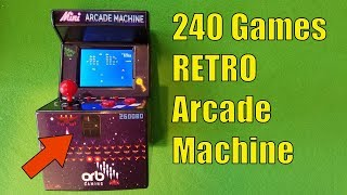 RETRO ARCADE MACHINE with 240 Games, One MINI Catch...
