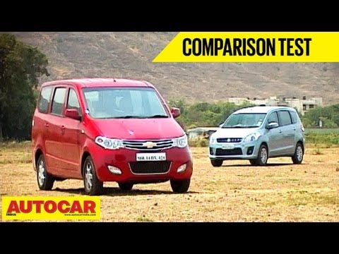 Chevrolet Enjoy Vs Maruti Ertiga | Comparo | Autocar India