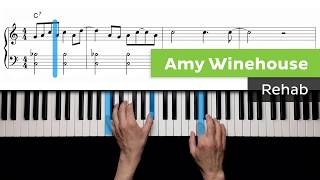 Amy Winehouse - Rehab - Piano Lessons For Intermediate Players