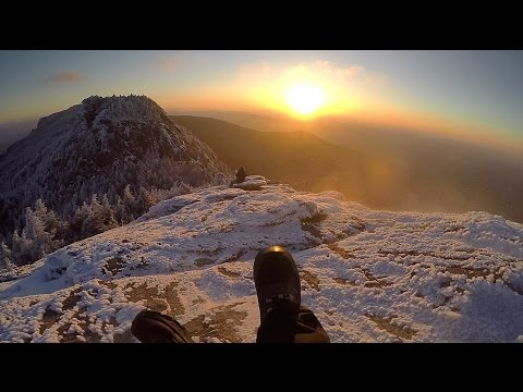 Sunrise Hike to Grandfather Mountain in the Snow
