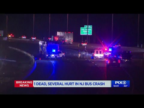 1 dead, several in `serious` NJ bus crash - YouTube