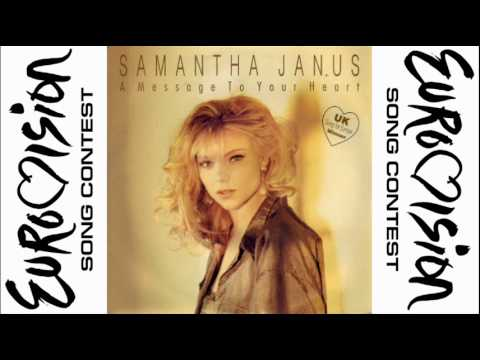 Samantha Janus | A Message To Your Heart | Eurovision Song Contest | United Kingdom | 1991