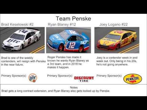 NASCAR Driver Predictions 2018  YouTube