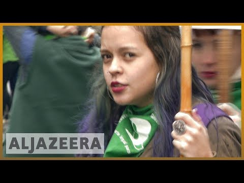 🇦🇷 Protests in Argentina calling for decriminalisation of abortion | Al Jazeera English