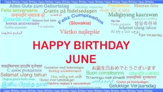 June   Languages Idiomas - Happy Birthday