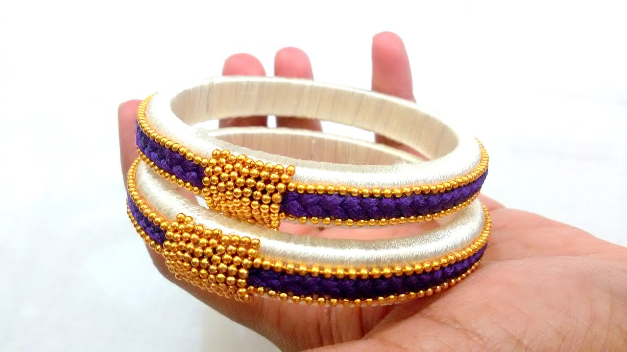how youtube silk make to design thread watch bangles