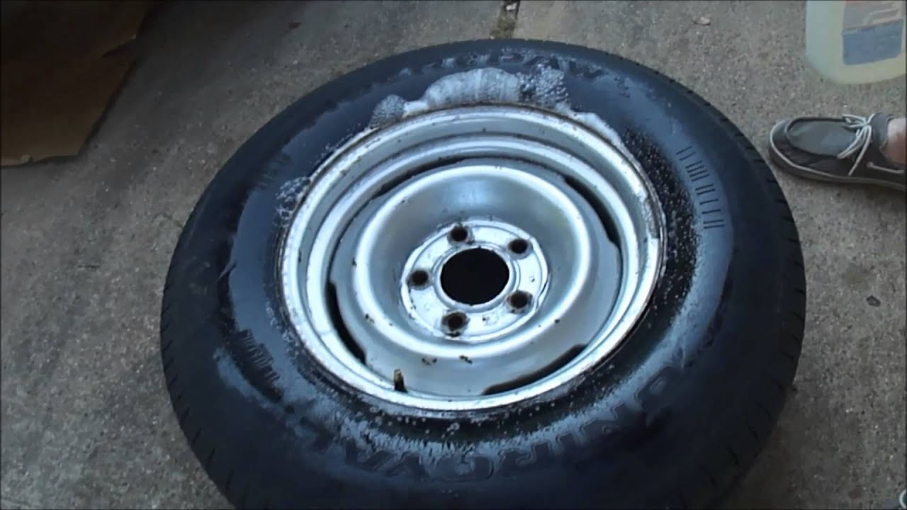 How To Check A Tire For A Slow Leak With Soap And Water