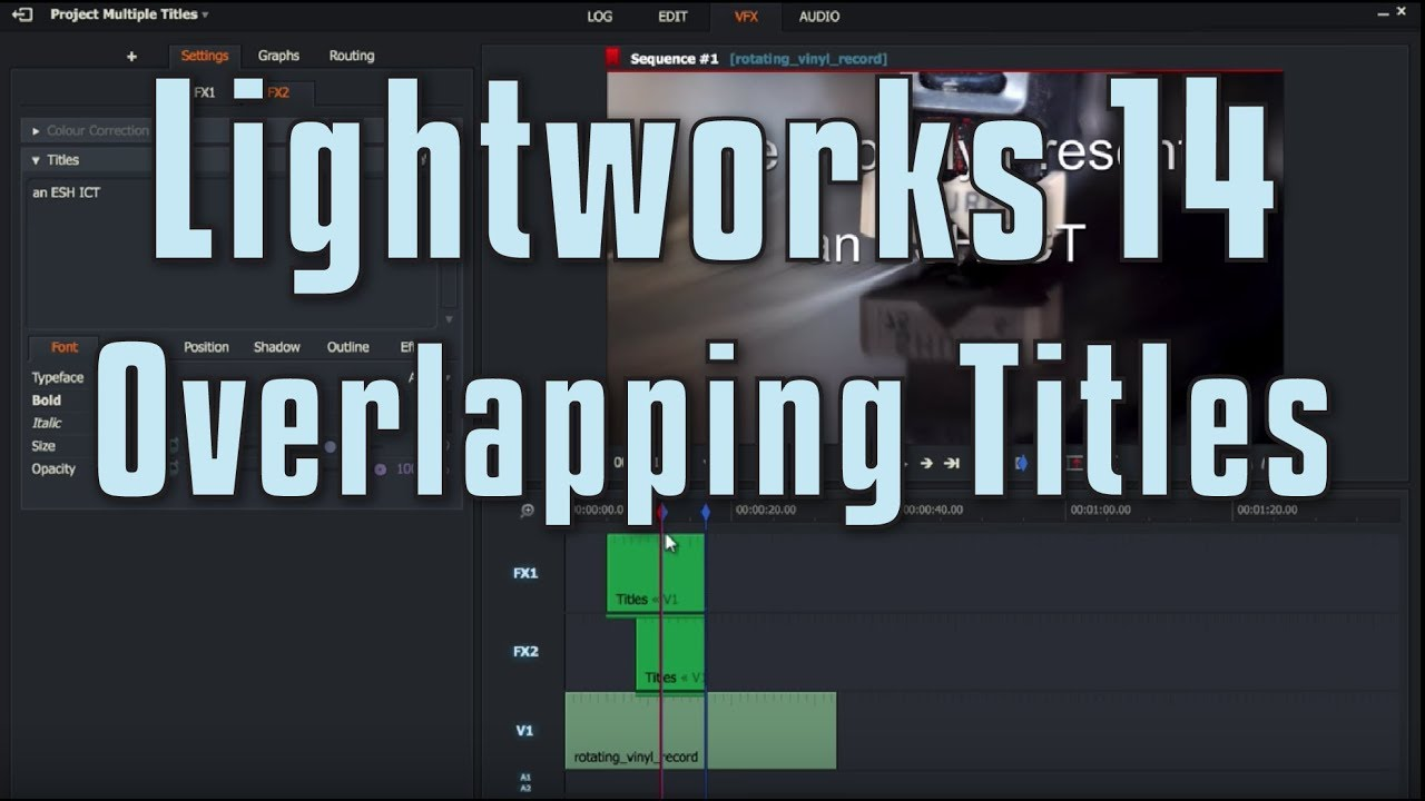 how to add a title in lightworks