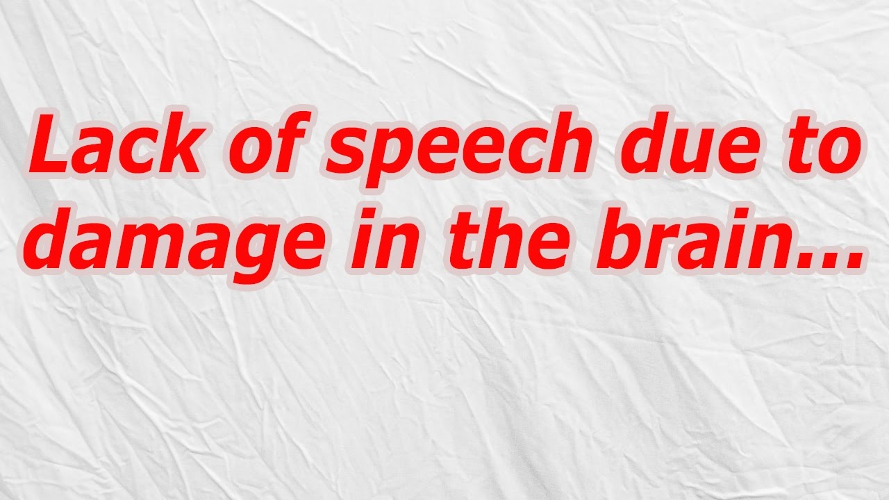 Lack of speech due to damage in the brain (CodyCross Crossword Answer)  sc 1 st  YouTube & Lack of speech due to damage in the brain (CodyCross Crossword ... 25forcollege.com