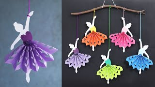 Simple and Attractive Paper Doll Wall Hanging Decoration - DIY Easy wall decoration ideas