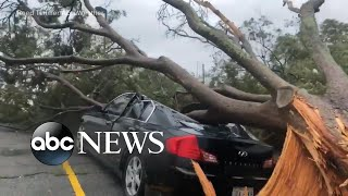 Hurricane Barry makes landfall, downgraded to tropical storm