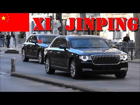 Xi Jinping   Son Convoi Dans Paris