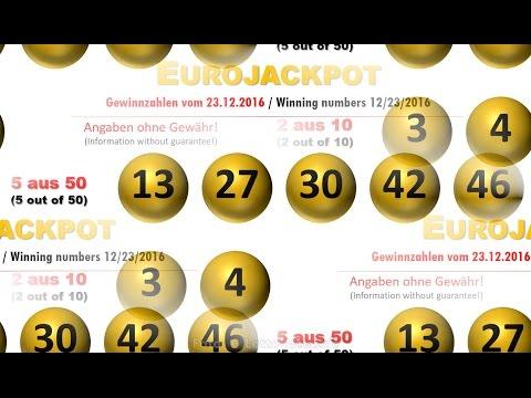 Gewinnzahlen Eurojackpot Ziehung