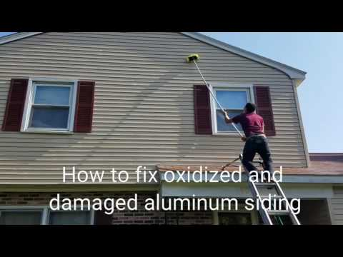 Oxidized aluminum siding restoration
