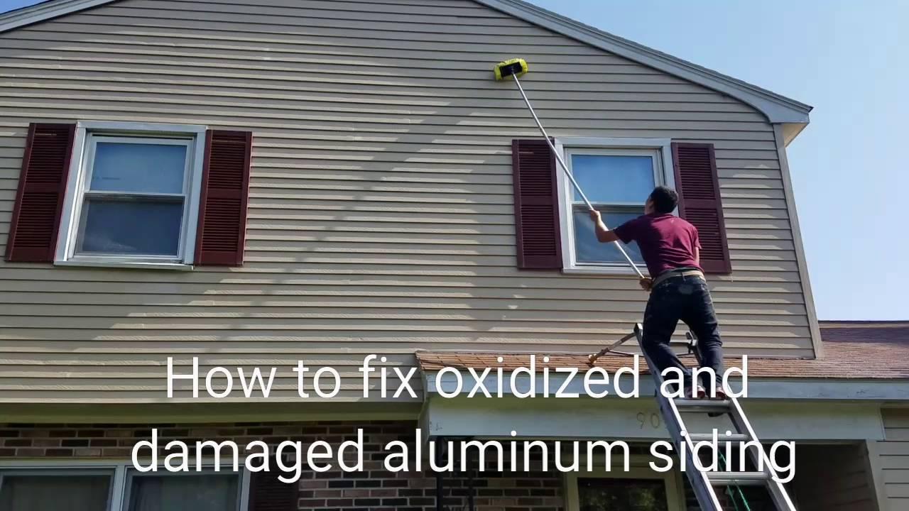 Oxidized Aluminum Siding Restoration Youtube