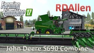 Video John Deere S690 Combine - Farming Simulator 17 Mod Review download MP3, 3GP, MP4, WEBM, AVI, FLV November 2017