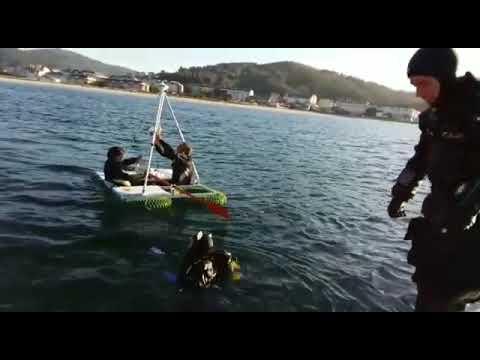 Empiezan las inmersiones en el pecio de la fragata Magdalena en Viveiro