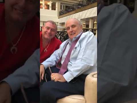 Rudy Giuliani with Arrested Lev Parnas and Igor Fruman