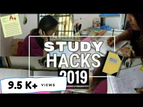 STUDY HACKS 2019 - Easy Tips to Score Great Marks in Exams.