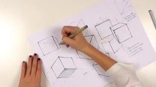 Перспектива: построение куба | Основы перспективы