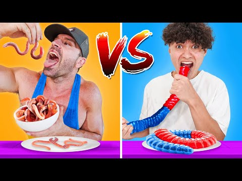 REAL FOOD VS GUMMY FOOD CHALLENGE (EXTREME)