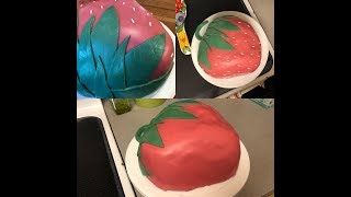 How to decorate a Strawberry Cake - DIY - fondant