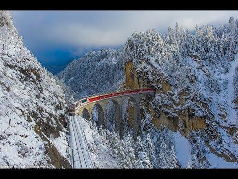ট্রেনের রাস্তা যেখানে ট্রেনের মধ্যেও দাড়িয়ে থাকা সম্ভভ নয়।AMAZING Swiss GOLDEN Train Route