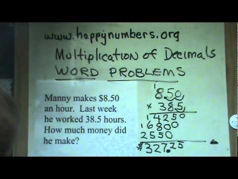Multiplication of Decimals Applying Your Skills - YouTube