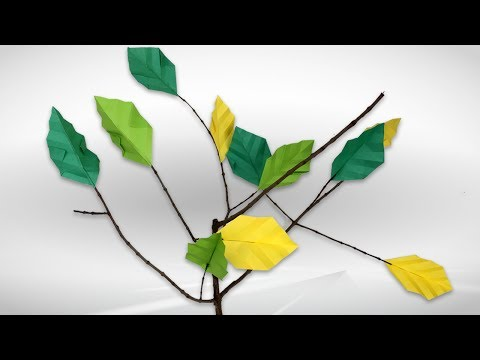 Easy Origami Leaf Instructions - DIY How To Make Paper Leaf - Leaf Origami Tutorial Step By Step