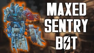 Fallout 4 Automatron - Maxed Sentry Bot - Setup and Gameplay