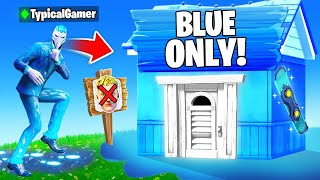 I Went UNDERCOVER in a BLUE ONLY Tournament! (Fortnite)