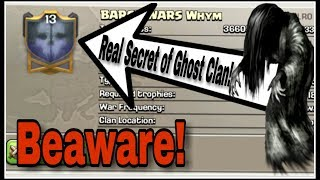 The REAL SECRET behind the GHOST CLAN! | CLASH OF CLANS funny commentary