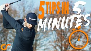5 AWESOME TIPS IN UNDER 5 MINUTES