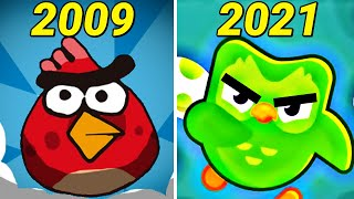 Evolution of Angry Birds Games 2009-2020