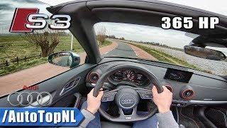 Audi S3 Convertible LOUD! Exhaust POPS & BANGS 365HP POV Test Drive by AutoTopNL