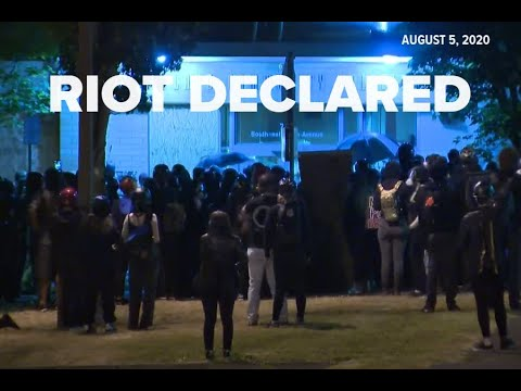 Riot Declared, Tear Gas Used Outside Portland Police's East Precinct