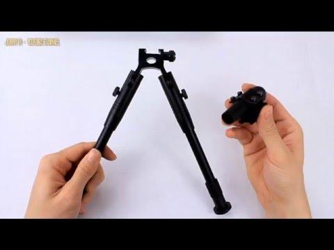 Установка сошек Harris на карабин Sauer 202 - YouTube
