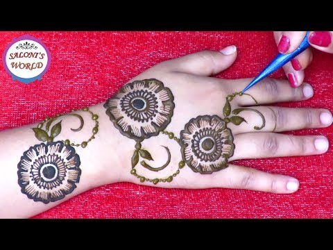 Mehndi Designs Roll : Simple floral d back hand henna mehndi designs for