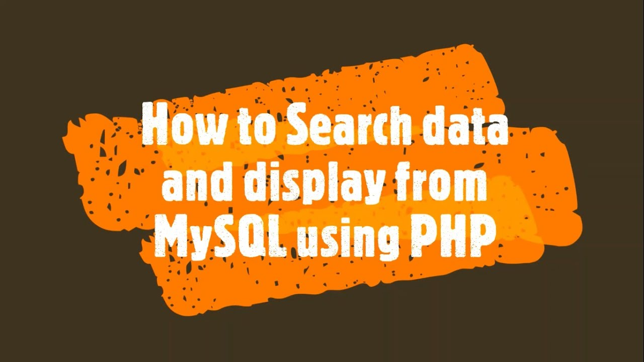 How to Search data and display from MySQL using PHP | PHP Lecture 35 | How to do this